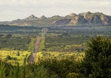 Paysage sur la route entre Huambo et Malanje, Angola